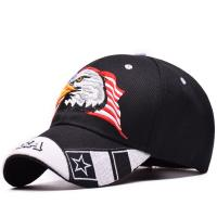Buy cheap Curved Bill 6 Panel Cotton Structured Black Baseball Cap With Embroidered Patch Logo product