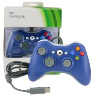 Buy cheap Ergonomic Xbox 360 Gamepad Controller, Blue Wired Xbox 360 Controller For PC product