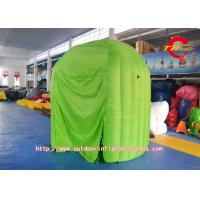 Indoor Exhibition Green Small Photo Booth Inflatable Tent in Oxford Cloth