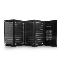 Waterproof 20W High Efficient Dual-Port Foldable solar energy power bank for Ipod / Laptop