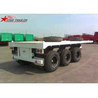 Buy cheap Three - Axle 40FT 12 Tires Flatbed Semi Trailer , Flatbed Equipment Trailer product
