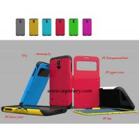 Buy cheap New SAM S5 case, mobile phone cover for Samsung S5 (PC+TPU+lint+transparent framework) product