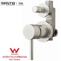 Buy cheap steel body brushed finish shower mixer with watermark product