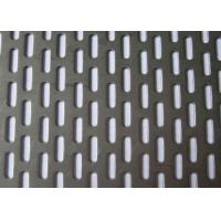 Buy cheap 304 Stainless Steel Slotted Hole Perforated Metal Plain Weave Style 1.22x2.44m Panel Size product