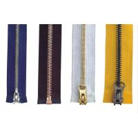 Quality 4# Close End Auto Lock For Pants Brass Y Teeth Metal Zippers , jean jackt cover for sale