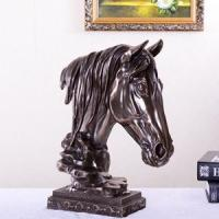 Buy cheap Horse head, lion king and other ornaments coated in bronze, brass and metal-alloy appearance of brass product
