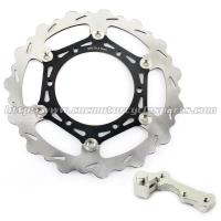 China 270mmm Motorcycle Brake Disc Rotor YZ 125 250 And Black Silver Alloy Adaptor on sale