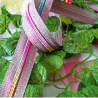 Buy cheap Rainbow Teeth 5# Long Chain Nylon Zippers With Colorful Tape For Home Textiles product