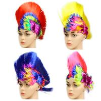 Buy cheap Football Game Cockscomb  Wig 28*28cm Dacron Logo Customized Sports Supplies product