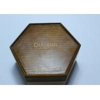 Dark Solid Wood Standing Jewelry Box , Gift Wood Hexagon Shaped Box