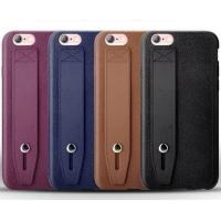 Buy cheap Leather pattern TPU pure color shockproof ultra thin brown soft case with stand for IphoneX 8 7plus 6s product