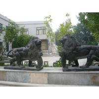 Buy cheap Marble stone sculpture walking lions sculpture,outdoor stone sculpture supplier product