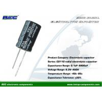 Buy cheap CD110 20% Tolerance Radial Electrolytic Capacitors for Home Appliances like Color TV Sets, Video Products product