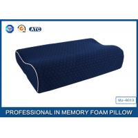 China Supplier Blue Memory Foam Support Pillow Contour Wave Shaped