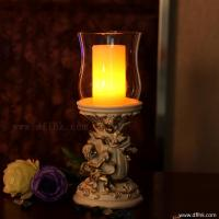 Buy cheap Polyresin angel  candle holder with LED wax pillar candle product