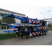 Container chassis , 3 axle 40FT container skeleton semi trailer for sale