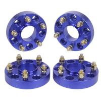 """Blue color Jeep Wrangler JK Rubicon Hub Centric 1.5"""" Wheel Spacers 5x5 to 5x5"""