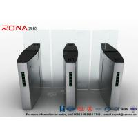 Buy cheap Building Access Control Turnstile Flap Barrier Automatic With Polishing Surface product