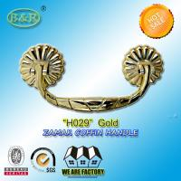 Buy cheap Coffin Handle, metal Funeral Accessories And Hardware zamak H029 gold color 19.5*8.5cm product