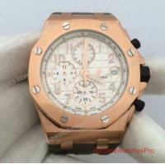 Buy cheap Audemars Piguet Royal Oak Offshore Rose Gold Watch White Dial 072929 product