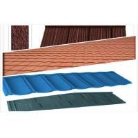 Light Weight Stone Coated Steel Roof Tiles , Polished House Exterior Roof Tiles