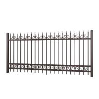 Fancy Designed Solid Decorative Wrought Iron Fence For Yard , Paint Coating