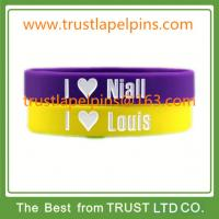 Buy cheap Custom made one direction silicone wristband, silicon wristband, silicone bracelet product