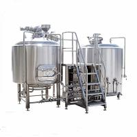 Quality 2000L Stainless Steel 2 Vessel Brewhouse Steam Heating Brewing Equipment Eco Friendly for sale