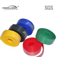 China Beautiful Colored Hook And Loop Fastening Tape Adhesive  Sticky Tape Flame Retardant on sale