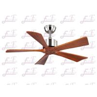 China East Fan 42 inch five nature wood blades brushed nickel modern ceiling Fans without light on sale