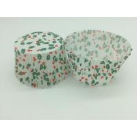 Buy cheap Single Wall Greaseproof Cupcake Liners Cup Cake Wrappers Dim Sum Cherry and Leaf Printing product