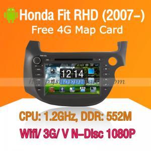 Buy cheap Honda Fit RHD Android Autoradio DVD GPS Navi Digital TV Wifi 3G product
