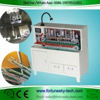 Quality Save 3-4 workers easy operated H05VV-F Tin Dip Soldering Machine Stripp Sheath for sale