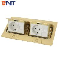 Buy cheap Copper alloy material double network interface double pop up floor socket product