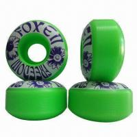 Buy cheap Skateboard Wheels with 62D Hardness and 80% Rebound, Available in Various Sizes product