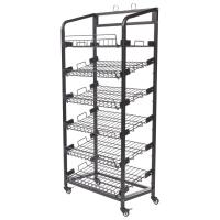 Buy cheap Inro 6 Shelves Metal Wire Display Racks With Caters Adjustable Height Shelf from wholesalers