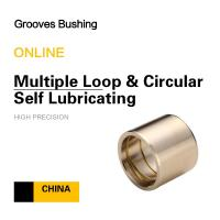 Buy cheap Copper CuSn7Zn4Pb7 Multiple Loop & Circular Self Lubricating Grooves Bushing For Mining Loading product