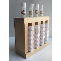 Buy cheap Durable Shop Display Fixtures 4 Slots Wooden Lip Balm Display Stand OEM&ODM product