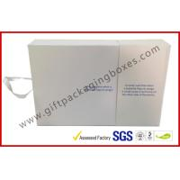 Buy cheap White Magetic Electronics Packaging / Custom Advertising Video Box product