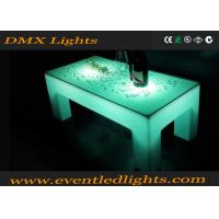 Buy cheap Ourdoor indoor plastic Popular white color LED lighting portable bar table product