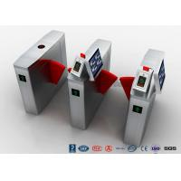 Buy cheap Automatic Facial Recognition Turnstile , Fast Lane Retractable Flap Barrier Gate product
