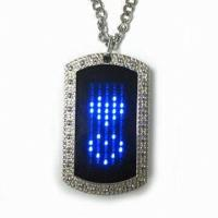 Buy cheap 2015 new fashion led name tag necklace product
