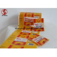 Buy cheap Black Tea Packaging Food Grade Laminating Film Roll With Yellow Foil Glossy Printing product