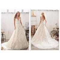Fabric Lace A Line Wedding Dress / Classical Flavor Sweetheart Ball Gown