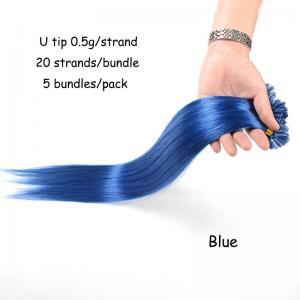 Buy cheap 100% Virgin Brazilian Human Hair Bundles Wholesale, UI Tip Colored Keratin Hair product