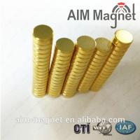 Buy cheap D2x2mm neodymium gold coating magnet for Jewelry product