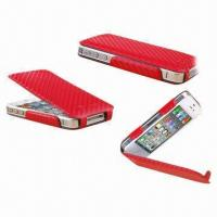 Buy cheap Real Leather Cases for iPhone 4/4S, Various Colors Available, 2 Textures from wholesalers