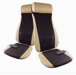 Buy cheap Golden PU Leather Electric Massage Cushion Shiatsu Massage Chair Cushion product