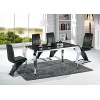Buy cheap Modern Black Marble Rectangle Dining Table with Chairs Factory Wholesale product