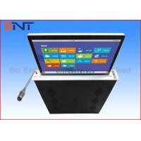 Motorized Microphone Computer Screen Lifter With 15.6 Inch Retractable Lifting Screen